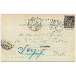 carte postale ancienne 1899 AIX-LES-BAINS. Arc de Campanus. Timbre 10 Centimes 1899