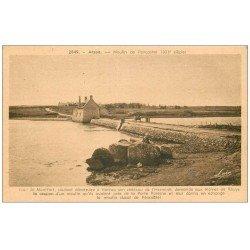 carte postale ancienne 56 ARZON. Moulin de Pencastel et Digue