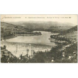 carte postale ancienne 07 ANNONAY. Barrage de Ternay 1941