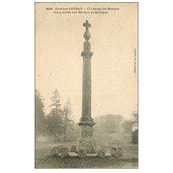carte postale ancienne 56 AURAY. Champ et Croix aux Martyrs de Quiberon