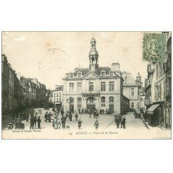 carte postale ancienne 56 AURAY. Place de la Mairie 1904