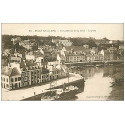 carte postale ancienne 56 BELLE-ILE-EN-MER. Le Port