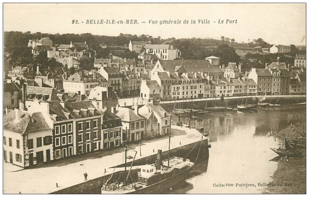 carte postale ancienne 56 BELLE-ILE-EN-MER. Le Port