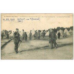 carte postale ancienne 56 CAMP DE COËTQUIDAN. Prisonniers Allemands 1915