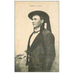 carte postale ancienne 56 CARNAC. Costume masculin avec chapeau Breton