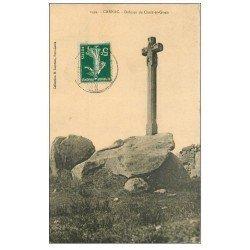 carte postale ancienne 56 CARNAC. Dolmen de Croix-er-Guen. 1913