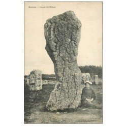 carte postale ancienne 56 CARNAC. Géant de Ménec. Dolmens et Menhirs