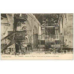 carte postale ancienne 56 CARNAC. Voûte de l'Eglise