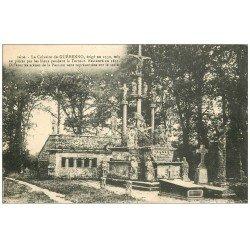 carte postale ancienne 56 GUEHENNO. Le Calvaire