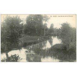 carte postale ancienne 56 GUER. Bords de la Rivière