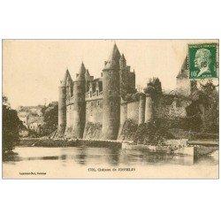 carte postale ancienne 56 JOSSELIN. Château 1923