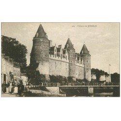 carte postale ancienne 56 JOSSELIN. Château animation