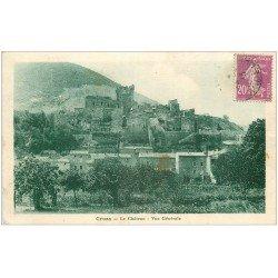 carte postale ancienne 07 CRUAS. Le Château 1933