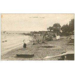 carte postale ancienne 56 LARMOR. La Plage 1931