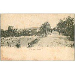 carte postale ancienne 07 Entrée d'APS. Carte pionnière vers 1900 vierge