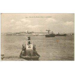 carte postale ancienne 56 LORIENT. Cale de Pen-Mané et Rade 1931