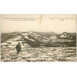 carte postale ancienne 07 La Chaîne des Boutières en hiver (fine plissure)...
