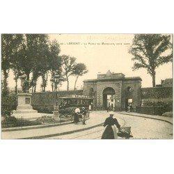 carte postale ancienne 56 LORIENT. La Porte du Morbihan Tramway Byrrh 1917