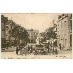 carte postale ancienne 56 LORIENT. Le Cours. Bove et Théâtre. La Dépêche de Brest