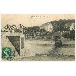 carte postale ancienne 56 LORIENT. Le Pont de Kermélo bien animé 1909