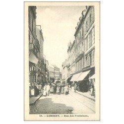 carte postale ancienne 56 LORIENT. Rue des Fontaines. Bord inférieur dentelé