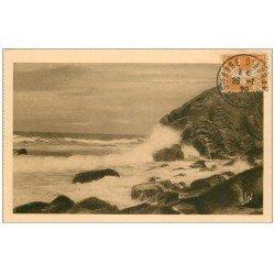 carte postale ancienne 56 MORBIHAN. Rochers et Mer. tampon 1929 Sainte-Anne-d'Auray