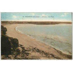 carte postale ancienne 56 PENESTIN. Océan et Plage 1929