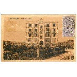 carte postale ancienne 56 PENTHIEVRE. Le Grand Hôtel 1932