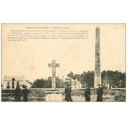 """carte postale ancienne 56 PLOERMEL. Colonne des Trente """""""" Chevaliers et Ecuyers Bretons """""""""""
