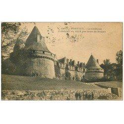 carte postale ancienne 56 PONTIVY. Château 1920