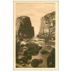 carte postale ancienne 56 PRESQU'ILE DE QUIBERON. Couloirs de Port-Bara