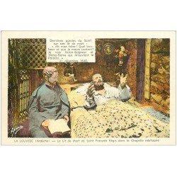 carte postale ancienne 07 LA LOUVESC. Lit mort Saint-François Régis