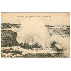 carte postale ancienne 56 PRESQU'ILE DE QUIBERON. Etude Rochers Port-Bara