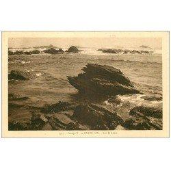 carte postale ancienne 56 PRESQU'ILE DE QUIBERON. Les Brisants 1952