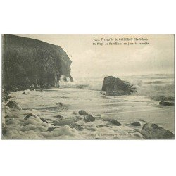 carte postale ancienne 56 PRESQU'ILE DE QUIBERON. Plage de Port-Blanc 1920