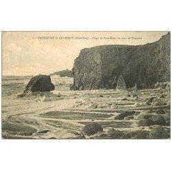 carte postale ancienne 56 PRESQU'ILE DE QUIBERON. Plage Port-Blanc 1915
