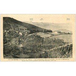 carte postale ancienne 07 LA LOUVESC. Vue panoramique et Chaîne des Cévennes