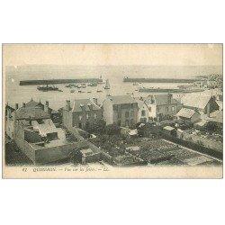 carte postale ancienne 56 QUIBERON. Les Jetées et Jardinets
