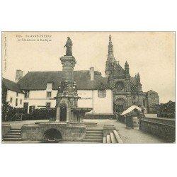 carte postale ancienne 56 SAINTE-ANNE-D'AURAY. Fontaine et Basilique