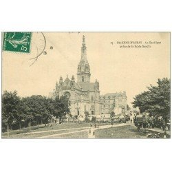 carte postale ancienne 56 SAINTE-ANNE-D'AURAY. Basilique prise Scala Sancta