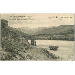 carte postale ancienne 07 LAC D'ISSARLES. Grottes et Embarcadère 1921