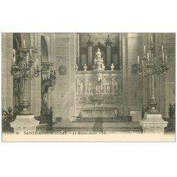 carte postale ancienne 56 SAINTE-ANNE-D'AURAY. Basilique. Orgues et Maître-Autel
