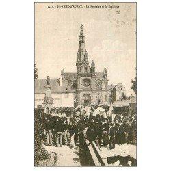 carte postale ancienne 56 SAINTE-ANNE-D'AURAY. Fontaine et Basilique vers 1928
