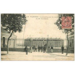 carte postale ancienne 56 VANNES. Caserne Foucher de Careil du 35° d'Artillerie 1907