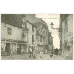 carte postale ancienne 56 VANNES. Place Cabello Café du Morbihan