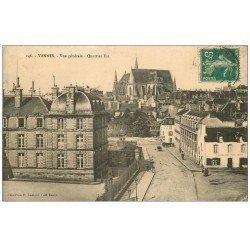 carte postale ancienne 56 VANNES. Quartier est 1911. Maison vins Loisel