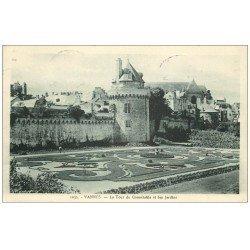 carte postale ancienne 56 VANNES. Tour du Connétable 1946