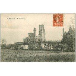 carte postale ancienne 40 BUGLOSE. La Basilique 1916