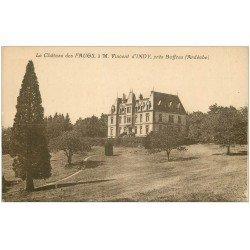 carte postale ancienne 07 Le Château de FAUGS près dBoffres