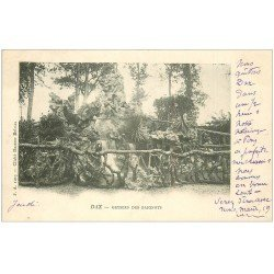 carte postale ancienne 40 DAX. Geysers des Baignots 1903